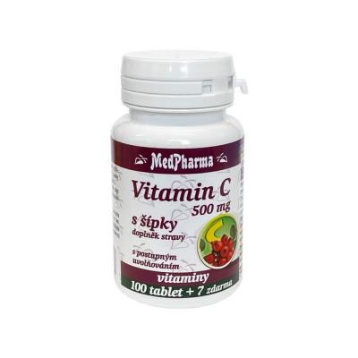 MedPharma Vitamín C 500 mg so šípkami 107 tabliet