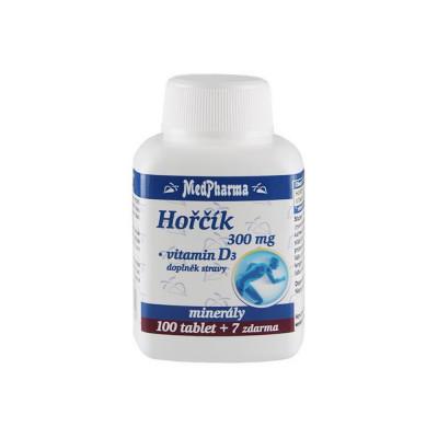 MedPharma Hořčík 300 mg + vitamin D3 107 tablet